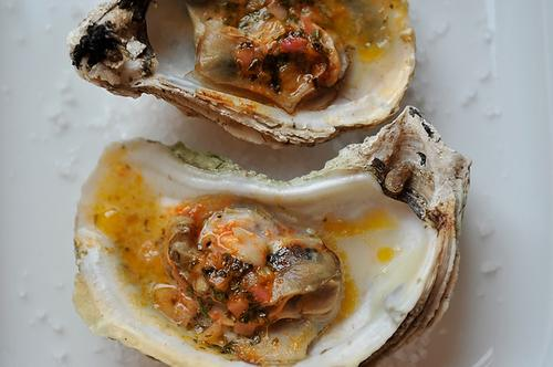 Grilled (or Broiled) Oysters with Sriracha-Lime Butter
