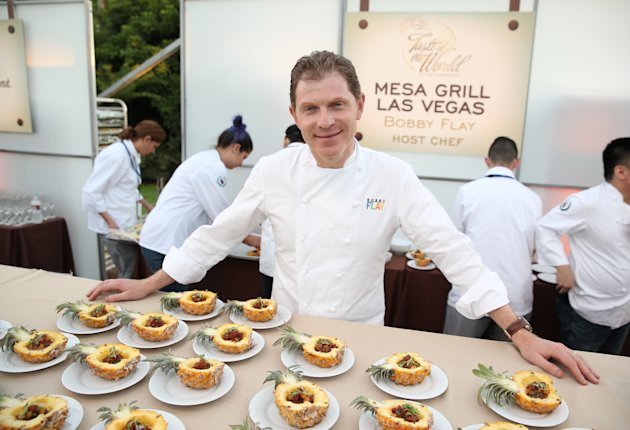 "Host Chef Bobby Flay is seen at The Breeders' Cup ""A Taste of the World"" event at the Huntington Library, on Friday Nov. 1, 2013, in San Marino Calif. (Photo by Matt Sayles/Invision for Breeders' Cup/AP Images)"