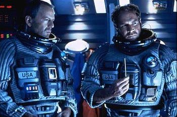 Bruce Willis and Will Patton in Touchstone's Armageddon