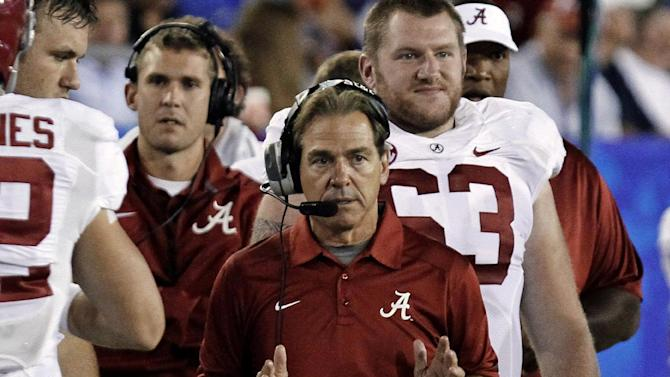 Alabama's Saban not giving out all A's at midterm