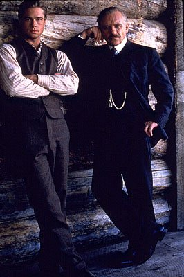 Brad Pitt and Anthony Hopkins in Legends of the Fall
