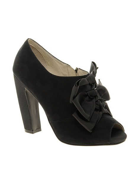 Faith cimi curved heel bow shoes, $96.75, asos.com