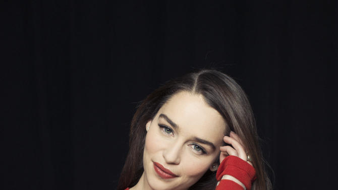 """This March 14, 2013 photo shows British actress  Emilia Clarke posing for a portrait in New York. Clarke, best known for her role in the HBO series, """"Game of Thrones,"""" is currently starring in the Broadway production of """"Breakfast at Tiffany's."""" (Photo by Victoria Will/Invision/AP)"""