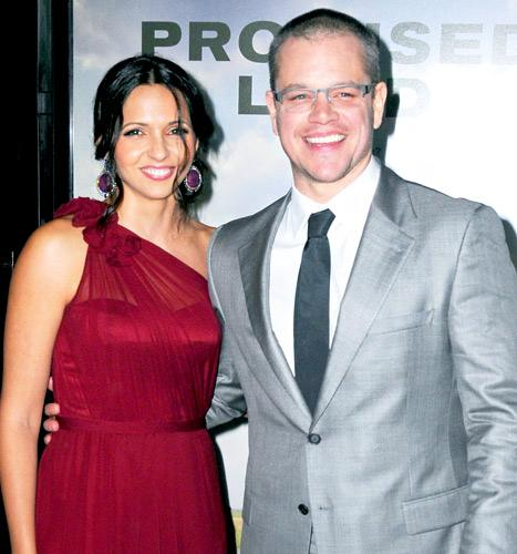 Matt Damon Vow Renewal: See His Wife Luciana's Naeem Khan Dress!