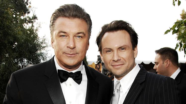 Alec Baldwin and Christian Slater at the 13th Annual Screen Actors Guild Awards.