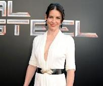 Evangeline Lilly sports white at the 'Real Steel' Los Angeles premiere at The Gibson Amphitheatre in Universal City, Calif. on October 2, 2011  -- Getty Images