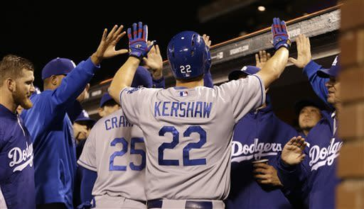 Kershaw strong in first start since dad's death