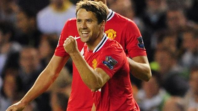 FOOTBALL Manchester United striker Michael Owen in the Carling Cup against Leeds United