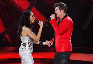 Duets' Olivia Chisholm and Robin Thicke | Photo Credits: Craig Sjodin/ABC