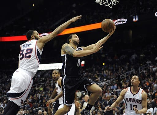 Lopez, Blatche lead Nets past Atlanta, 93-80