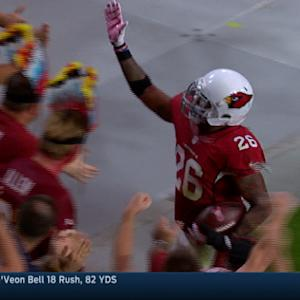 Arizona Cardinals safety Rashad Johnson 28-yard interception return