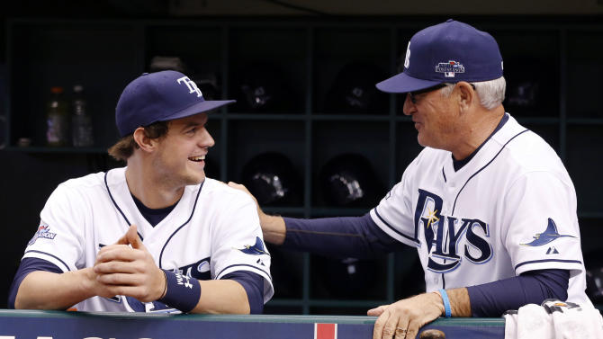 Rays rookie Wil Myers leaves game with leg cramps