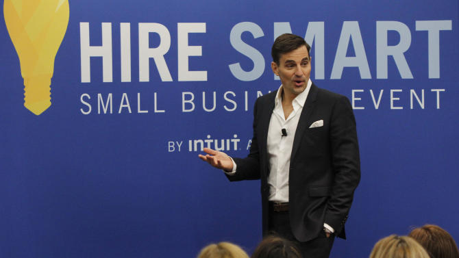 IMAGE DISTRIBUTED FOR INTUIT -  Bill Rancic speaks to attendees at the company's first ever Hire Smart Small Business Event on Saturday, April, 27, 2013 in Mountain View, Calif. The event offered small business owners free resources and expert advice for hiring employees. (Photo by George Nikitin/Invision for Intuit/AP Images)