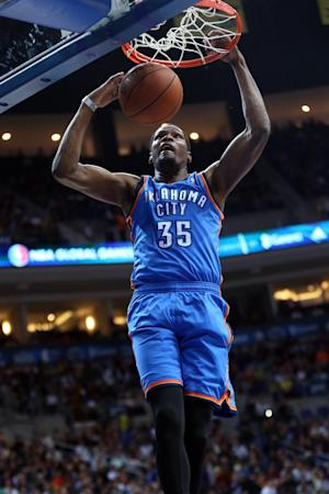 Durant, Thunder win exhibition opener in Turkey