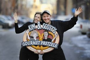 Kim and Scott Holstein, who run a multi-million pretzel company that focuses on helping others