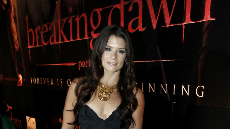 "Danica Patrick arrives to the world premiere of ""The Twilight Saga: Breaking Dawn - Part 1"" on Monday, Nov. 14, 2011, in Los Angeles. (AP Photo/Matt Sayles)"