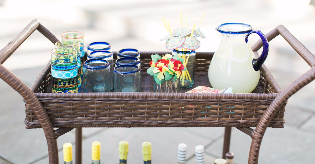 The Perfect Summer Bar Cart With Pier 1 Imports