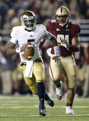Golson leads Notre Dame to 21-6 win over BC