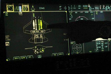 The F-35 cockpit of the world's newest fifth generation fighter aircraft