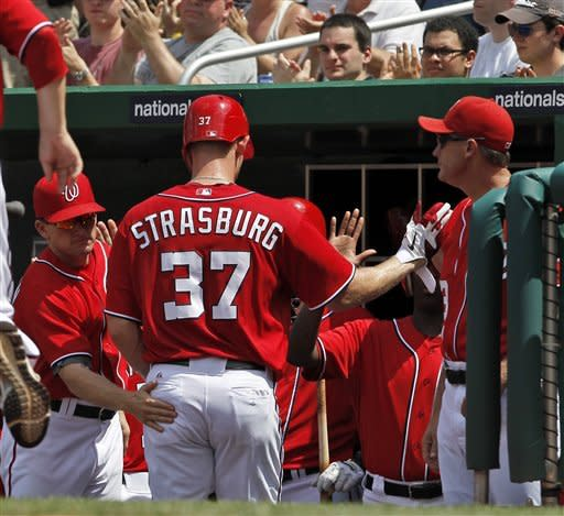 Strasburg leads Nationals over Marlins 4-1