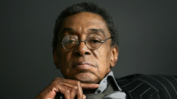 "FILE - This Monday, March 6, 2006 file photo shows Don Cornelius at his office in Los Angeles. Cornelius, creator of the long-running TV dance show ""Soul Train,"" shot himself to death Wednesday morning, Feb. 1, 2012 at his home in Los Angeles, police said. He was 75.   (AP Photo/Damian Dovarganes, File)"