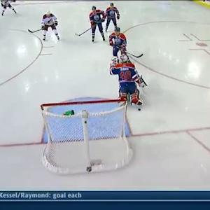 Keith Yandle dekes and scores on Dubnyk