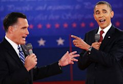 Mitt Romney and Barack Obama | Photo Credits: John Moore/Getty Images News