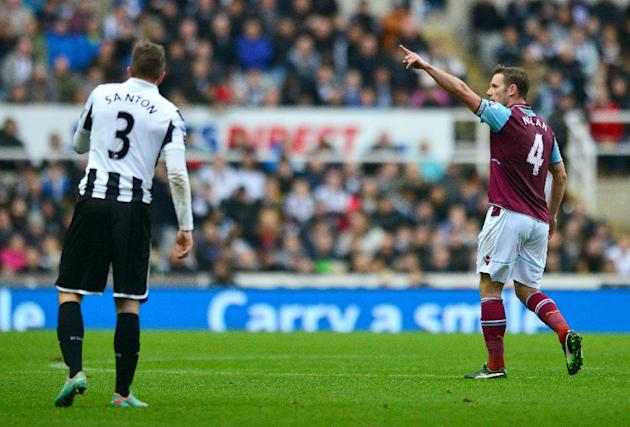Kevin Nolan's first-half strike put West Ham ahead against Newcastle