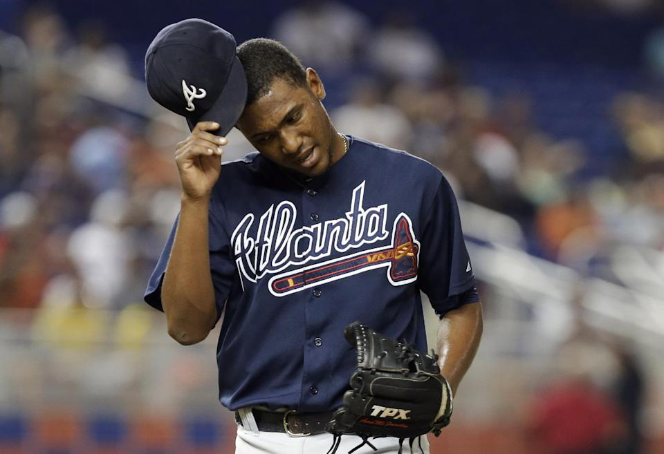 Teheran pitches Braves past Marlins 4-3