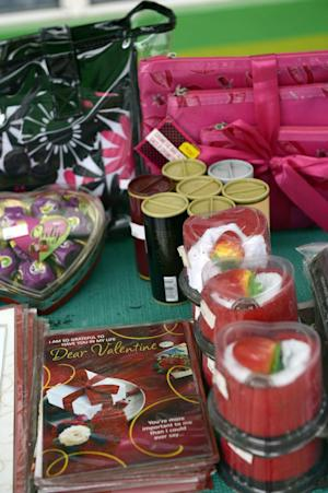 Valentine gift items are on sale at a Lagos supermarket …