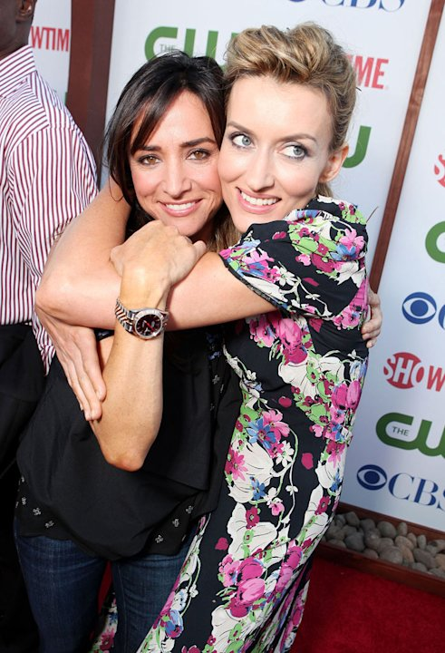 Pamela Adlon and Natasha McElhone of &quot;Californication&quot; attend the CBS, The CW, and Showtime 2011 Summer TCA Party at The Pagoda on August 3, 2011 in Beverly Hills, California. 