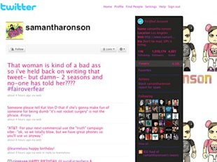 Samantha Ronson: Charity money!