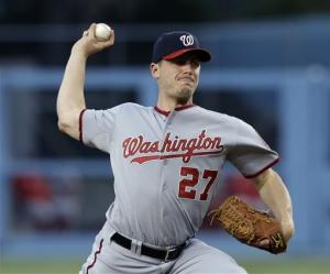 Nationals beat Dodgers 6-2, lose Harper