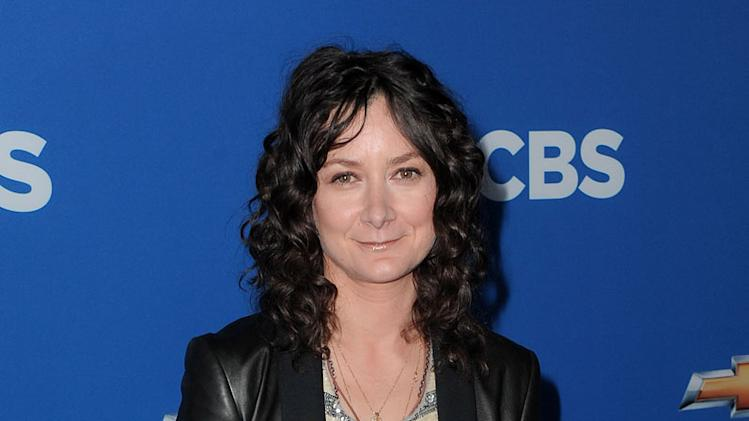 "Sara Gilbert of ""The Talk"" arrives at the CBS Fall Season Premiere party at The Colony on September 16, 2010, in Los Angeles."