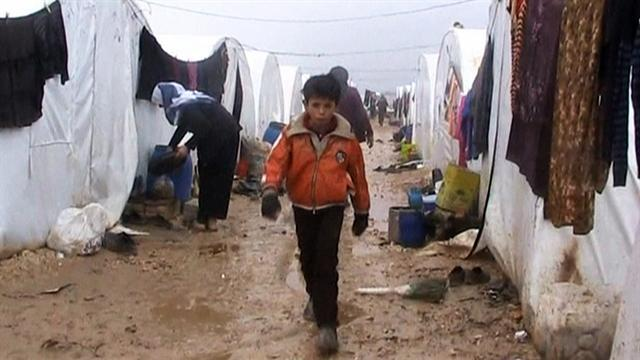 Awful conditions in Syrian refugee camps