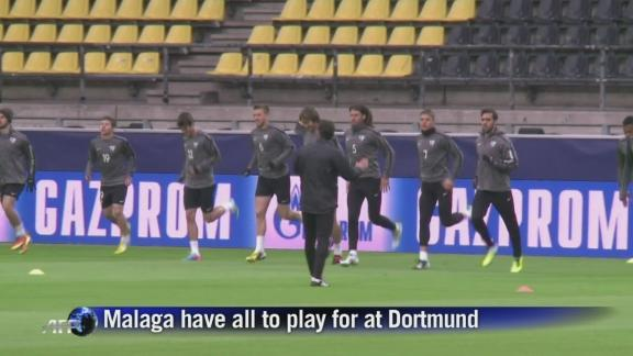 Malaga have all to play for at Dortmund