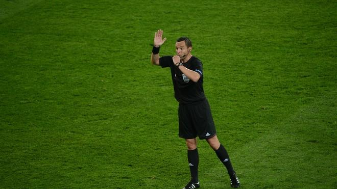 French Referee Stephane Lannoy Whistles  AFP/Getty Images