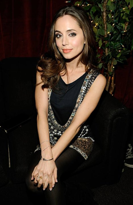 Eliza Dushku poses backstage at Spike TV's 2008 &quot;Video Game Awards&quot; held at Sony Pictures' Studios on December 14, 2008 in Culver City, California. 