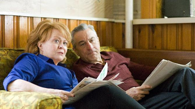 """This film image released by The Weinstein Company shows Jacki Weaver, left, and Robert De Niro in """"Silver Linings Playbook."""" (AP Photo/The Weinstein Company, JoJo Whilden)"""