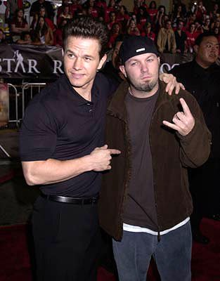 Premiere: Mark Wahlberg and Fred Durst at the Westwood premiere of Warner Brothers' Rock Star - 9/4/2001