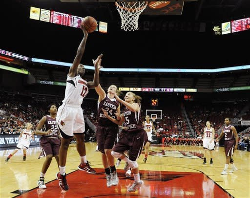 Schimmel sisters lead No. 7 Louisville past EKU