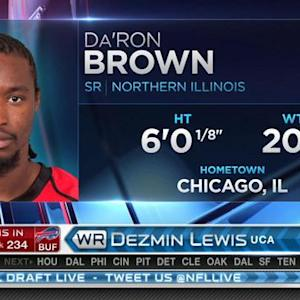 Kansas City Chiefs pick wide receiver Da'Ron Brown No. 233 in 2015 NFL Draft