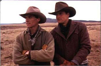 Billy Crudup and Woody Harrelson in The Hi-Lo Country