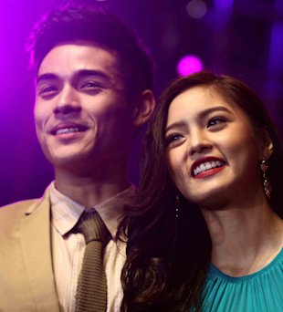 Lim with onscreen partner Kim Chiu (NPPA Images) Birthday boy Xian Lim