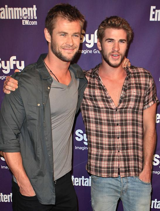 Chris Hemsworth and Liam Hemsworth photos: Looking uber Australian – we like it! Copyright [Getty]