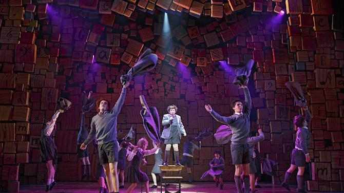 """This theater publicity image released by Boneau/Bryan-Brown shows the cast of """"Matilda The Musical,"""" during a performance in New York. The New York Drama Critics' Circle has voted """"Vanya and Sonia and Masha and Spike"""" as best play and """"Matilda"""" as best musical. (AP Photo/Boneau/Bryan-Brown, Joan Marcus)"""