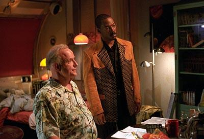 Peter Boyle and Eddie Murphy in The Adventures of Pluto Nash