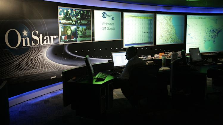 FILE -  The General Motors OnStar command center is shown in Detroit, in this Feb. 6, 2006 file photo. The OnStar automobile communication service maintains its two-way connection with a customer even after the service is discontinued and reserves the right to sell data from that connection. U.S. Sen. Charles Schumer of New York calls that a blatant invasion of privacy and is calling on the Federal Trade Commission to investigate. Schumer is announcing the effort Sunday Sept. 25, 2011 by releasing a letter to the Federal Trade Commission seeking an investigation. (AP Photo/Carlos Osorio)