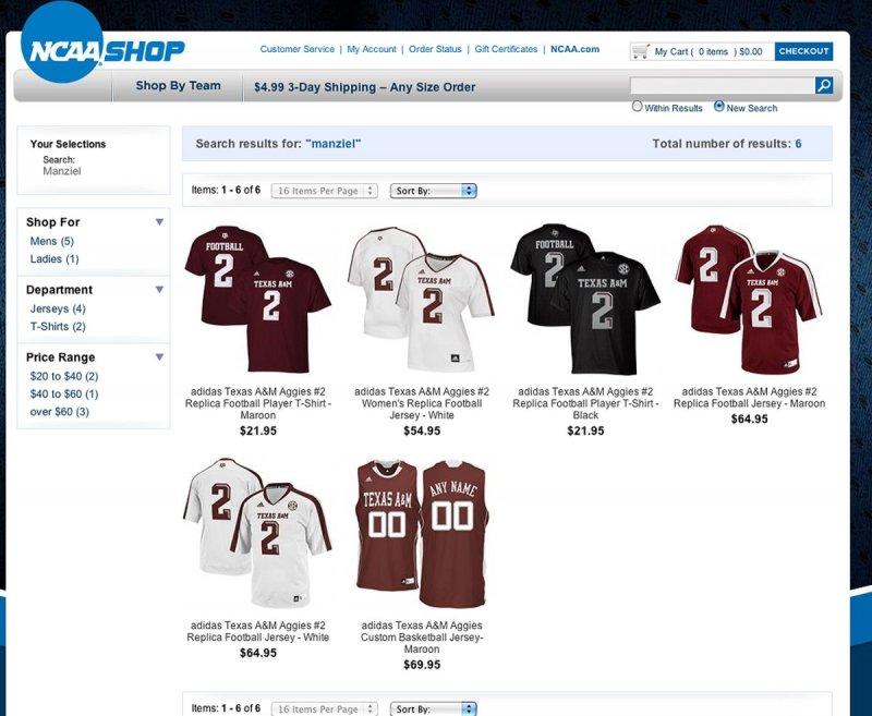 shop ncaa sports website