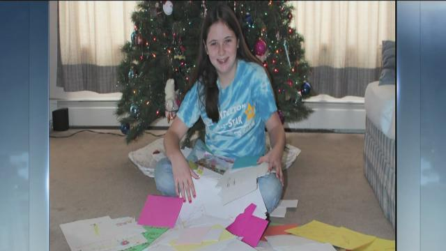 Annie Gillock, 11, sends 600 cards to Sandy Hook students